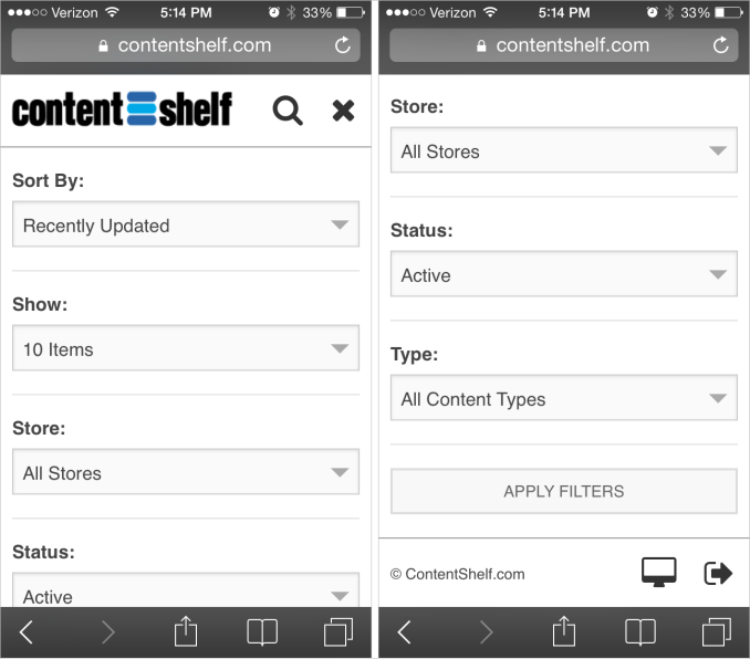 Content Shelf Mobile Buyers Area Screenshot Part 2